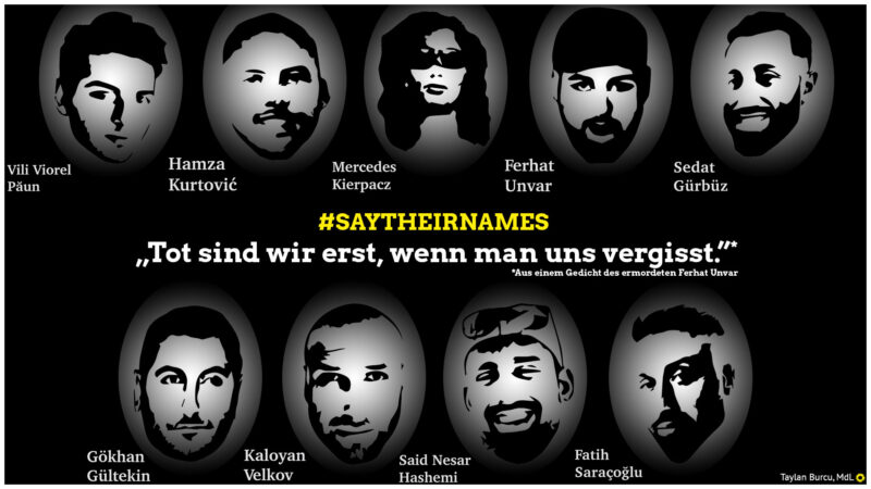 Sharepic mit den Opfern von Hanau